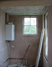 Complete renovation project in Merton Street, Oxford. Picture taken after the plastering had been finished